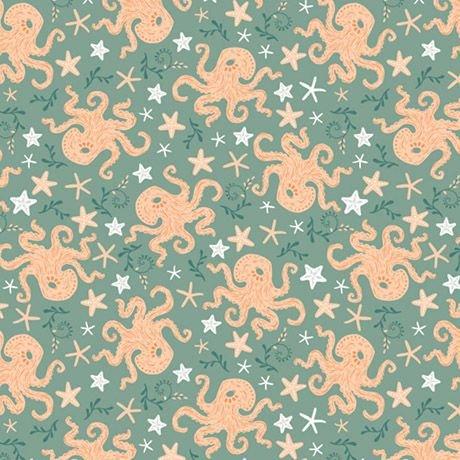 Beachside Pretty - Octopus (Seafoam)