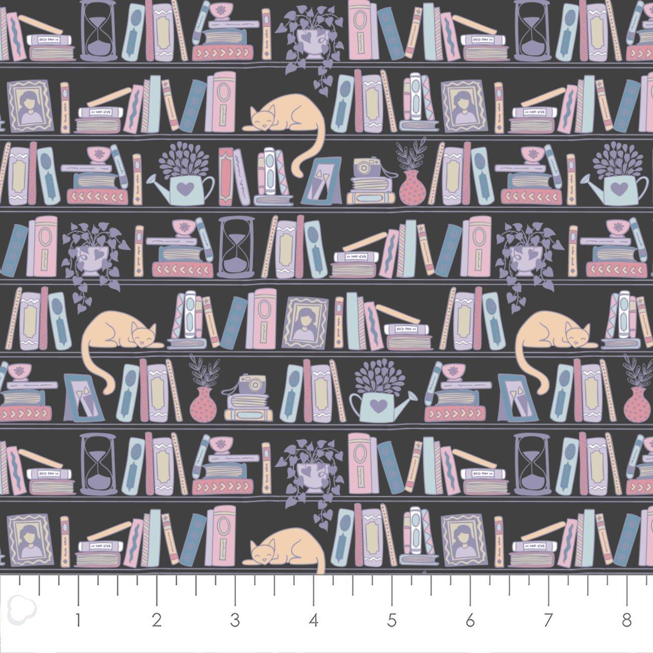 Literary - Bookshelves (Charcoal)