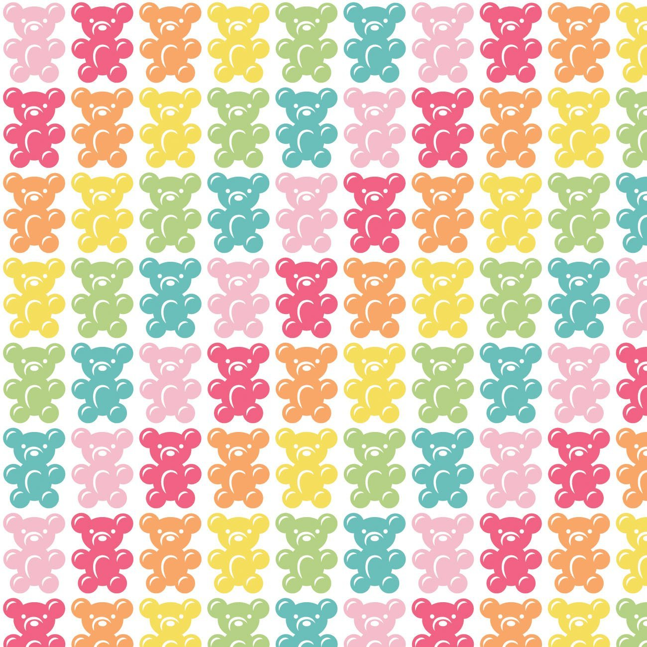 Be The Rainbow - Bright Gummy Bears (White)