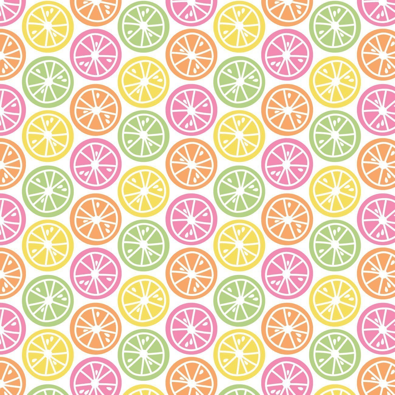 Be The Rainbow - Bright Fruit Slices (White)