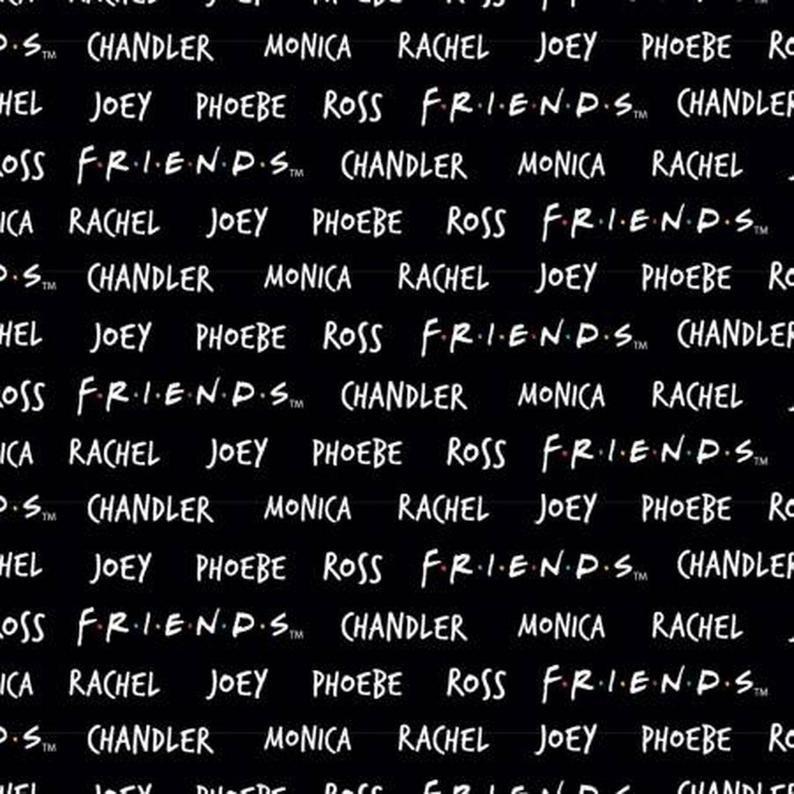 Friends - Names (Black)