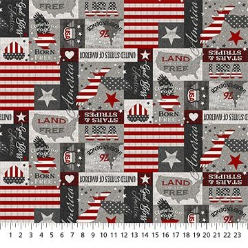 My America - Patchwork (Gray/Multi)