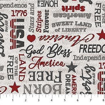 My America - Words (Lt. Gray)