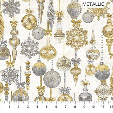 White Christmas - Baubles (Neutral/Metallic)