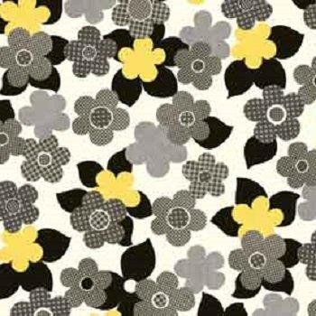 Anapola - Main Floral (Black/Yellow)
