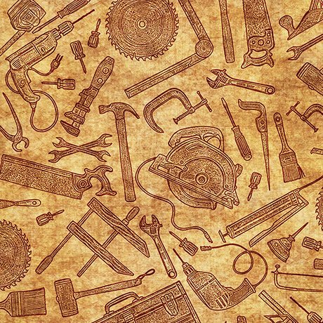Craftsman - Tool Toile (Gold)