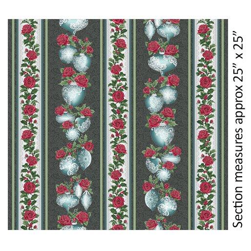 A Festive Season 3 - Festive Lace Stripe Metallic (Charcoal/Teal)