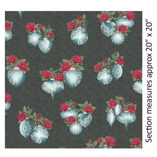 A Festive Season 3 - Festive Lace Ornaments Metallic (Charcoal)