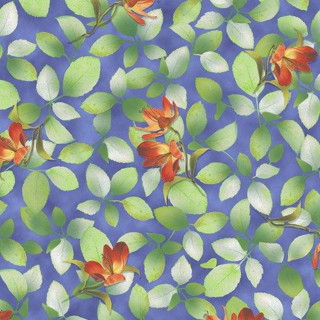 Belle - Flower and Leaf (Dark Periwinkle)