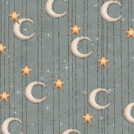 Adrift - Stars and Moon Stripe (Slate)