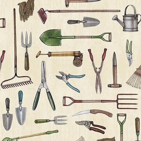 A Gardening We Grow - Gardening Tools (Ecru)