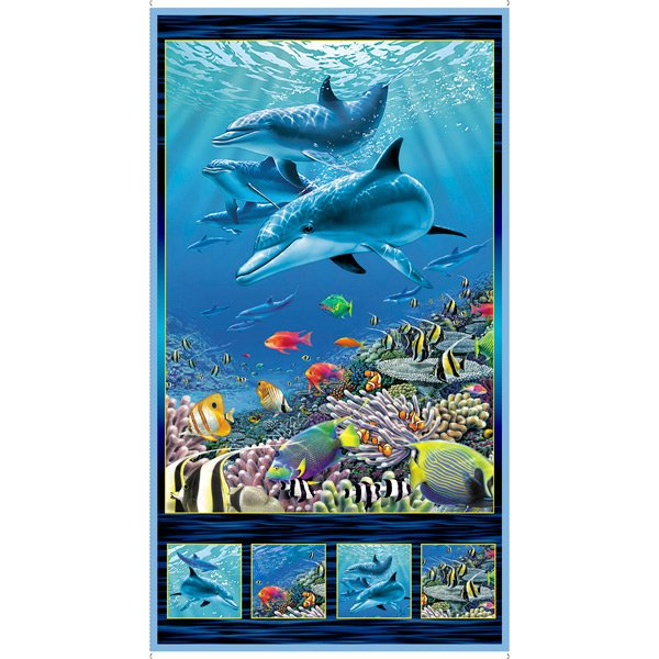 Artworks XVI - 24 Dolphin Panel - DIGITAL PRINT