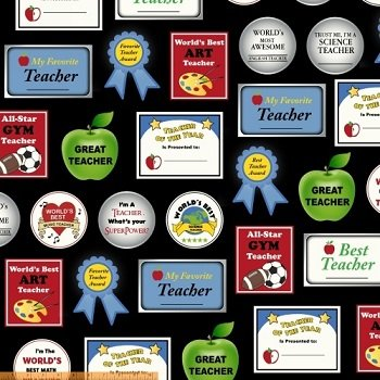 *Educators - Teacher Awards (Black/Multi)