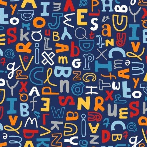 School Zone - Alphabet All-Over (Navy)