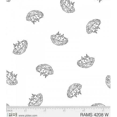 Ramblings Spring - Nest (White on White: Refer to Description)