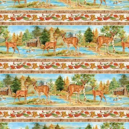 Deer Meadow - Repeating Stripe