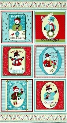 Happy Holidays Snowmen - 23.5 Panel