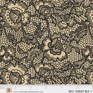 King Quilts Wide Backs - Lace (Black)