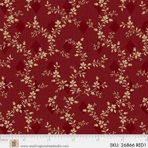 King Quilts Wide Backs - Vine (Red)