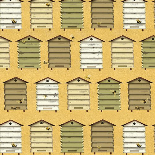 Bee A Keeper - Bee Hives Boxes (Yellow)