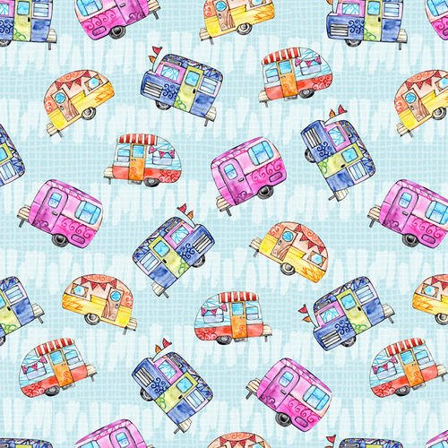 Color My World - Tossed Campers (Blue)