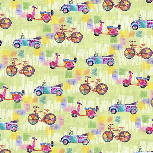 Color My World - Bikes, Cars, Scooters (Green)