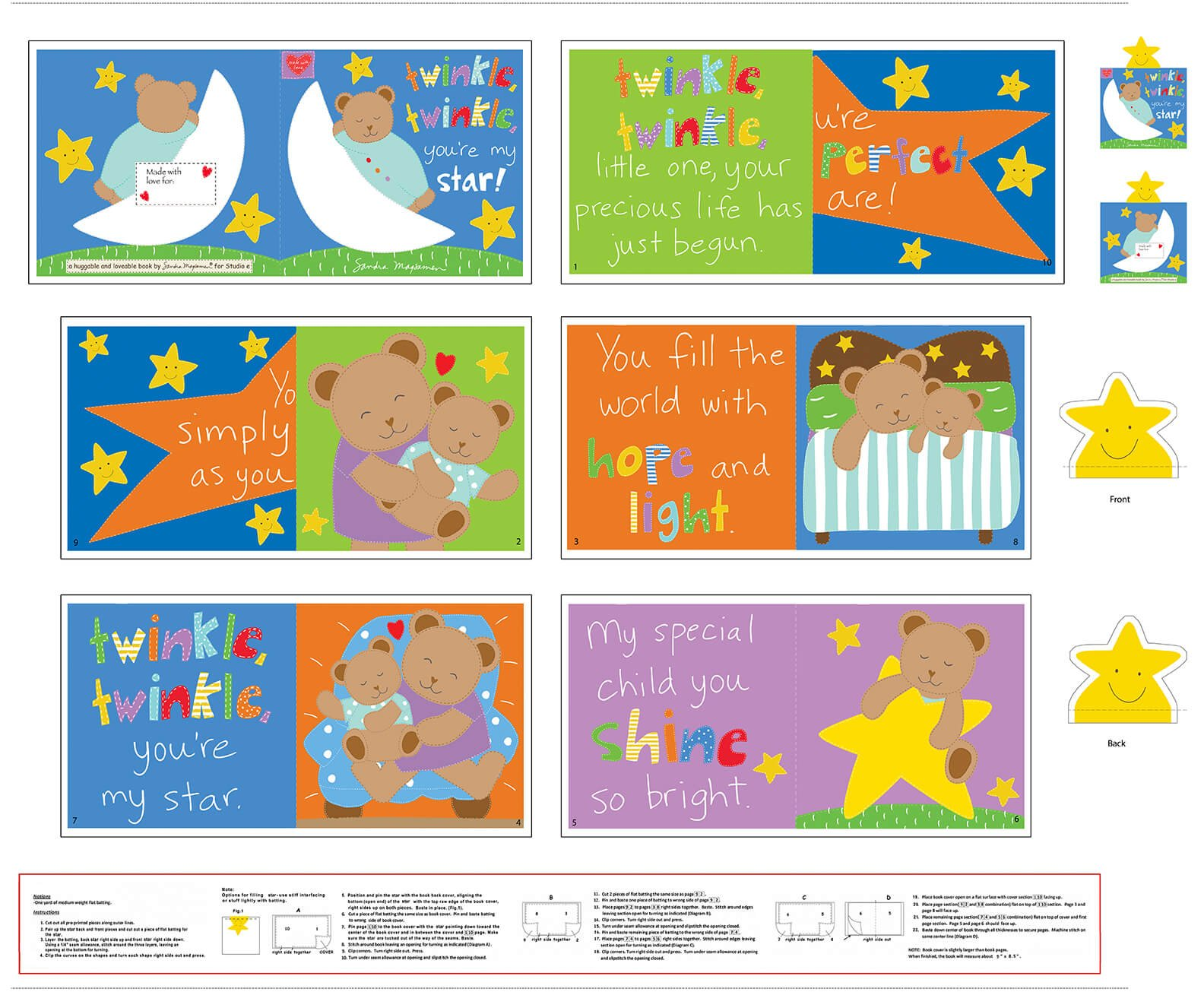 Huggable & Loveable 8 -  Twinkle Twinkle Little Star 36 Panel