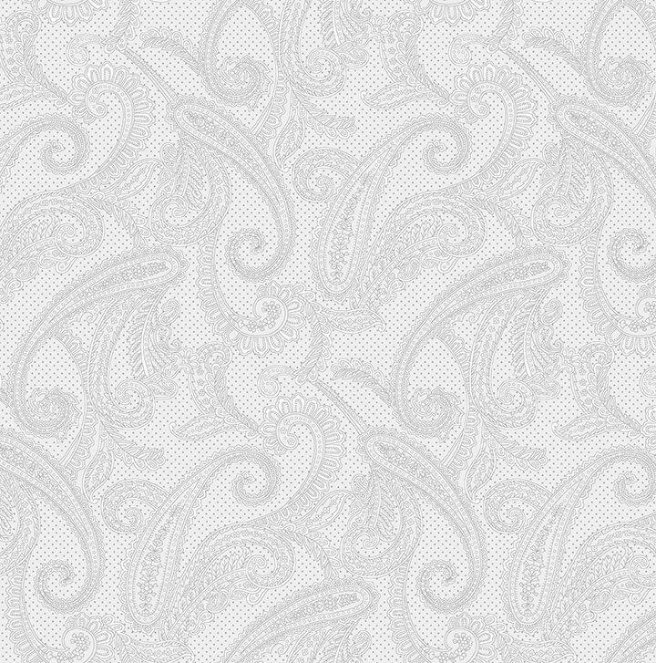 Cream & Sugar IX - Paisley (Gray)
