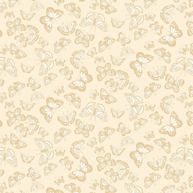 Cream & Sugar IX - Butterflies  (Beige)