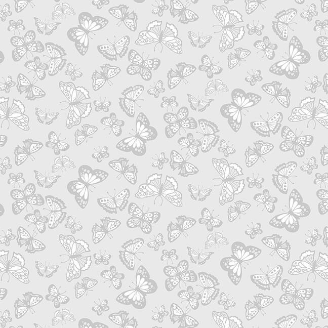 Cream & Sugar IX - Butterflies  (Gray)