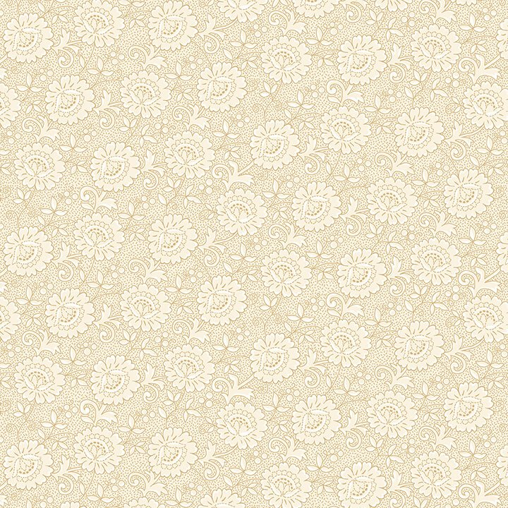 Cream & Sugar IX - Floral (Beige)