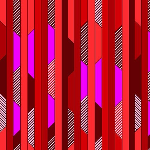 All Lined Up - Diagonal Blocks Stripe (Red/Purple)