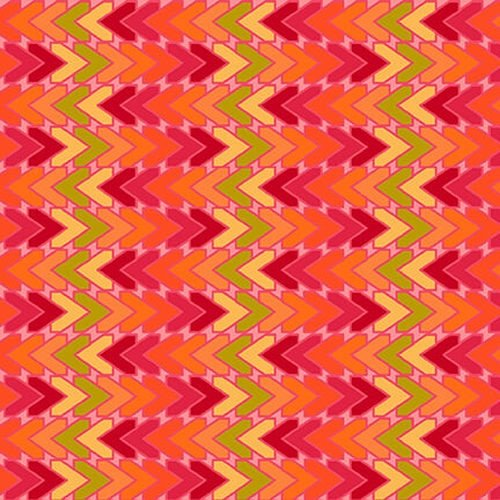 All Lined Up - Chevron (Red/Orange)