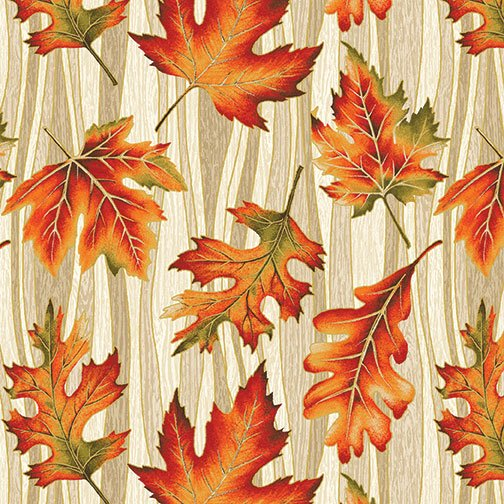 Autumn Leaves - Wave Leaf (Natural/Metallic)