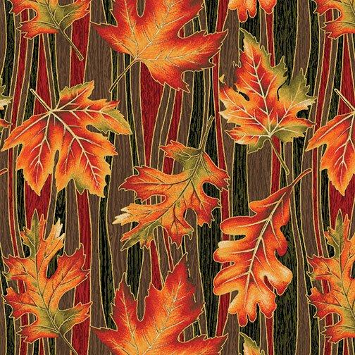 Autumn Leaves - Wave Leaf (Multi/Metallic)