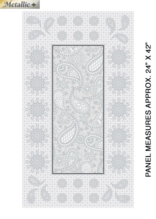 Jubilee Silver Metallic - 24 Embroidery Panel