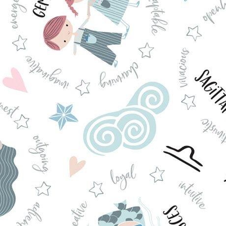 Celestial Zodiac - Astrological Signs (White)