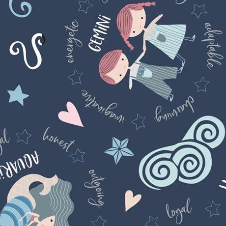 Celestial Zodiac - Astrological Signs (Navy)