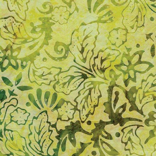 Bali Fiesta Batik - Deco Leaf (Lemon/Lime)