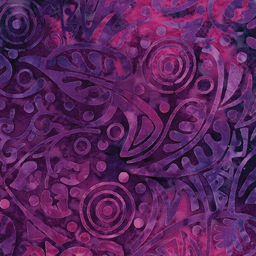 Bali Fiesta Batik - Deco Leaf (Plum/Violet)