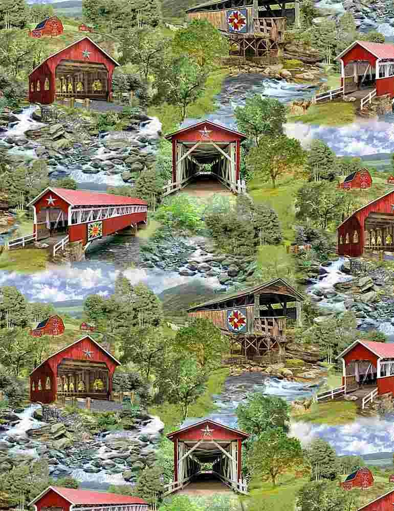 *All Over Red Covered Bridges (Multi)