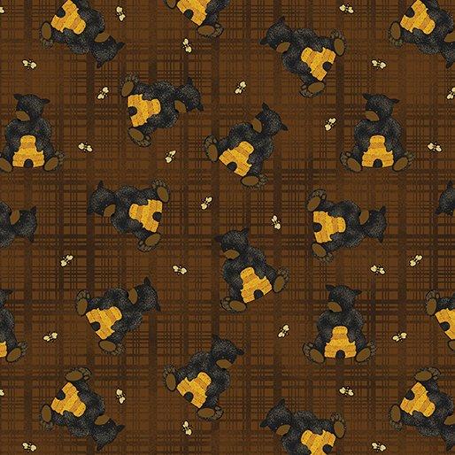 Bear Paws - Bear with Honey Plaid (Brown)
