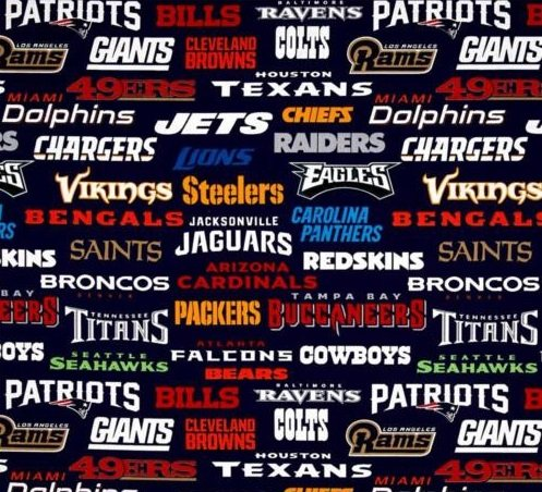 NFL Teams - 58 Wide (Multi)
