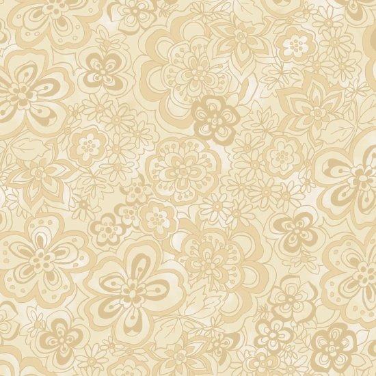 Isadora 108 Wide - Floral (Cream)