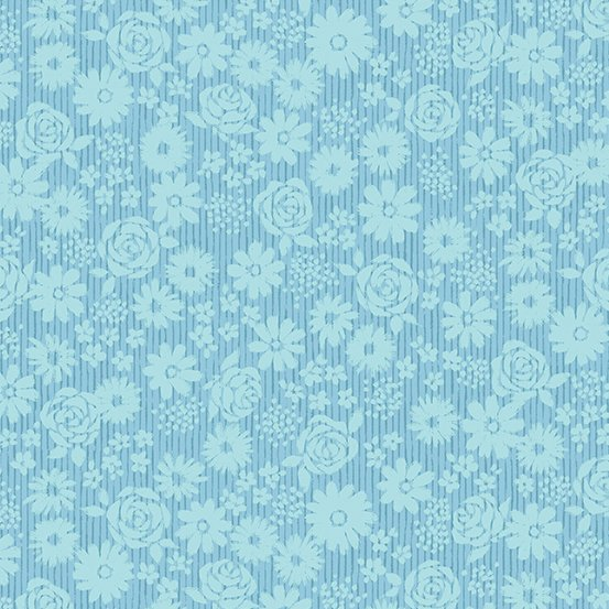 Top Drawer - Tonal Floral (Baby Blue)