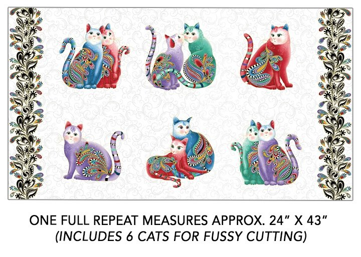 Cat-I-tude 2 Purrfect Together - 24 Panel (White/Multi)