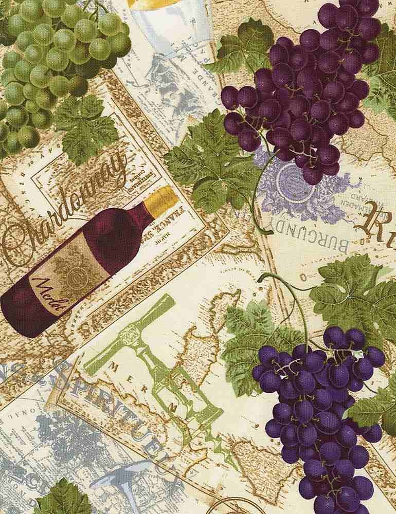 *Wine And Grapes On Text (Multi)