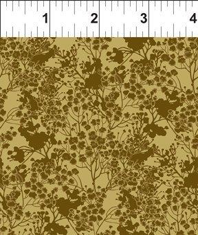 Garden Delights lll - Tonal Floral (Gold)