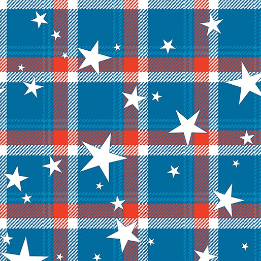 All American - Plaid (Blue)