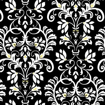 Audrey - Damask (Black)